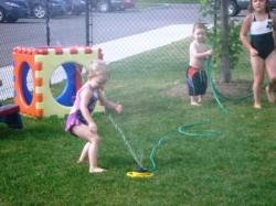 Summer sprinkler play