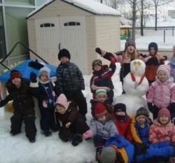 Gold Medal Snowman! Go, Canada, Go!