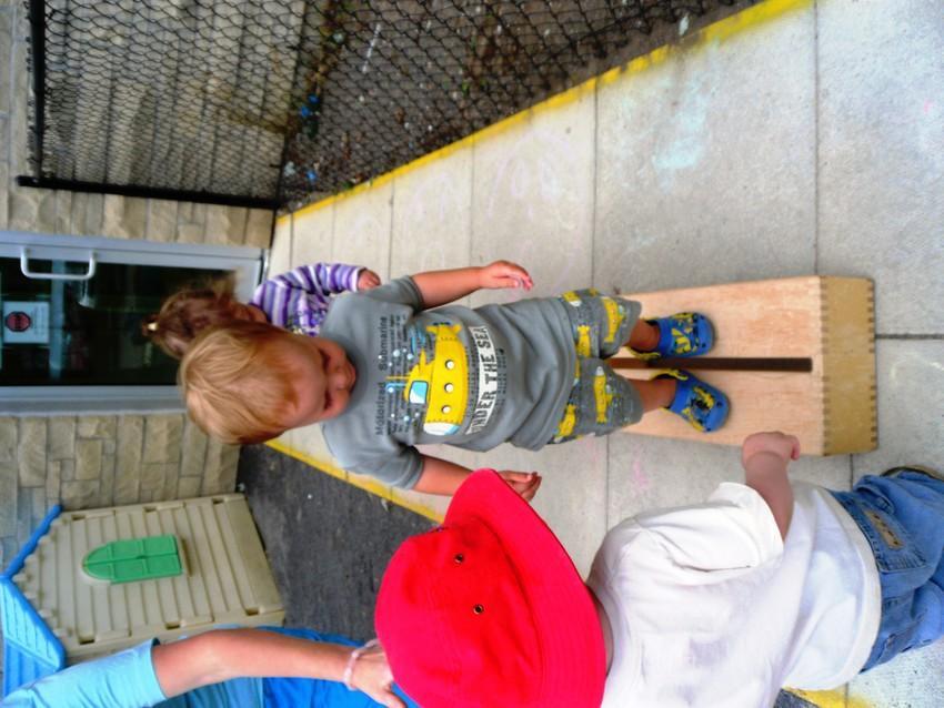 Toddler Tightrope Walking