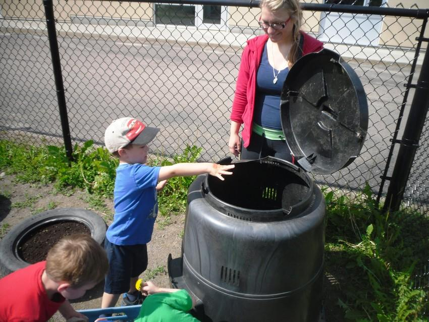 We've started our composter