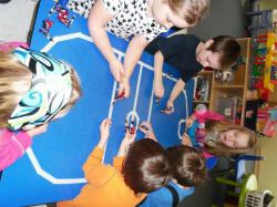 School-Age Table Hockey Game