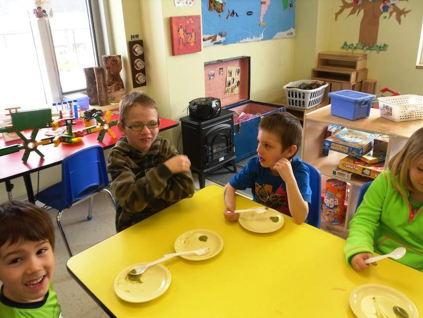 St. Pattys Day Baby Food Taste test